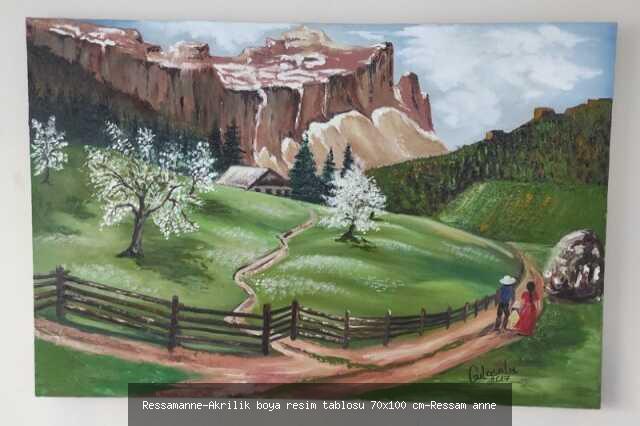 Akrilik Boya Resim Tablosu 70x100 cm